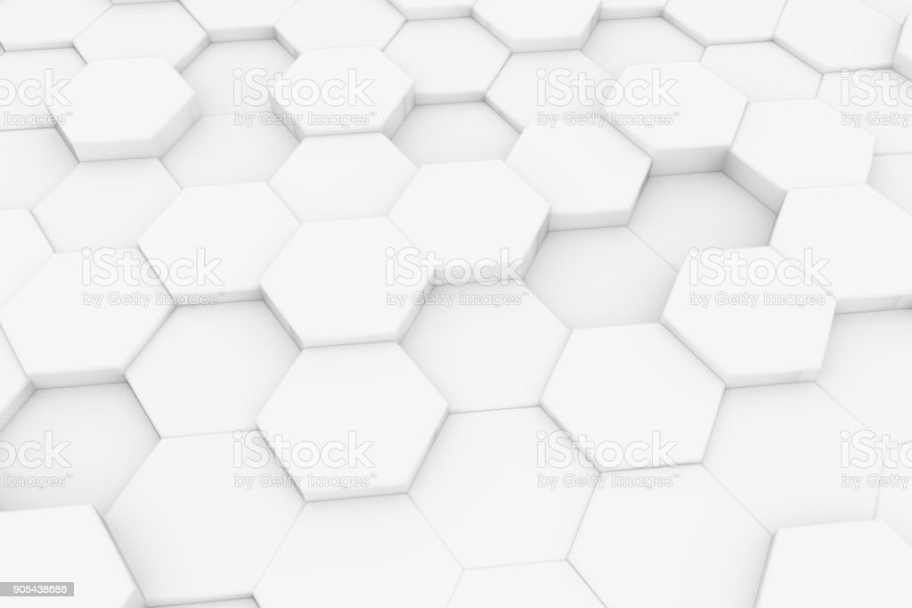 Hexagonal, Honeycomb Abstract 3D Background stock photo