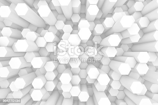905438692 istock photo Hexagonal, Honeycomb Abstract 3D Background 994770134