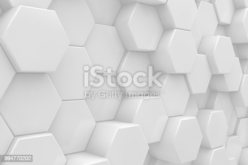 905438692 istock photo Hexagonal, Honeycomb Abstract 3D Background 994770202