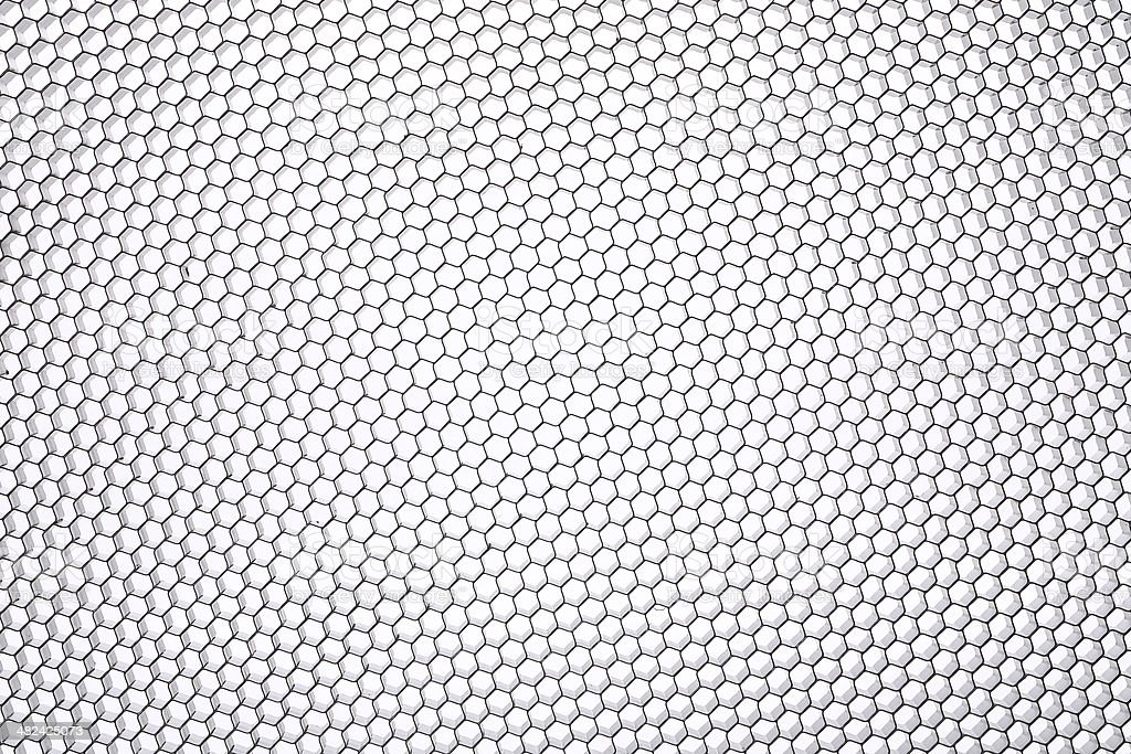 Hexagonal mesh. stock photo