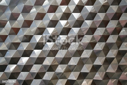 istock Hexagonal metal pattern background, light and shade metal texture abstract 540103282