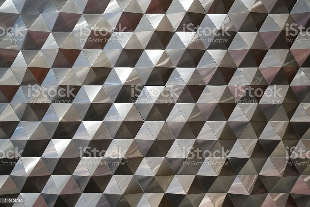 Hexagonal metal pattern background, light and shade metal texture abstract stock photo