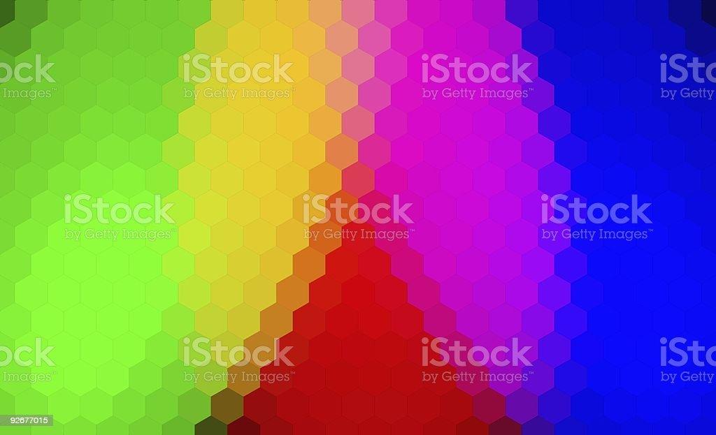 Hexagonal Textured Spectrum Background royalty-free stock photo