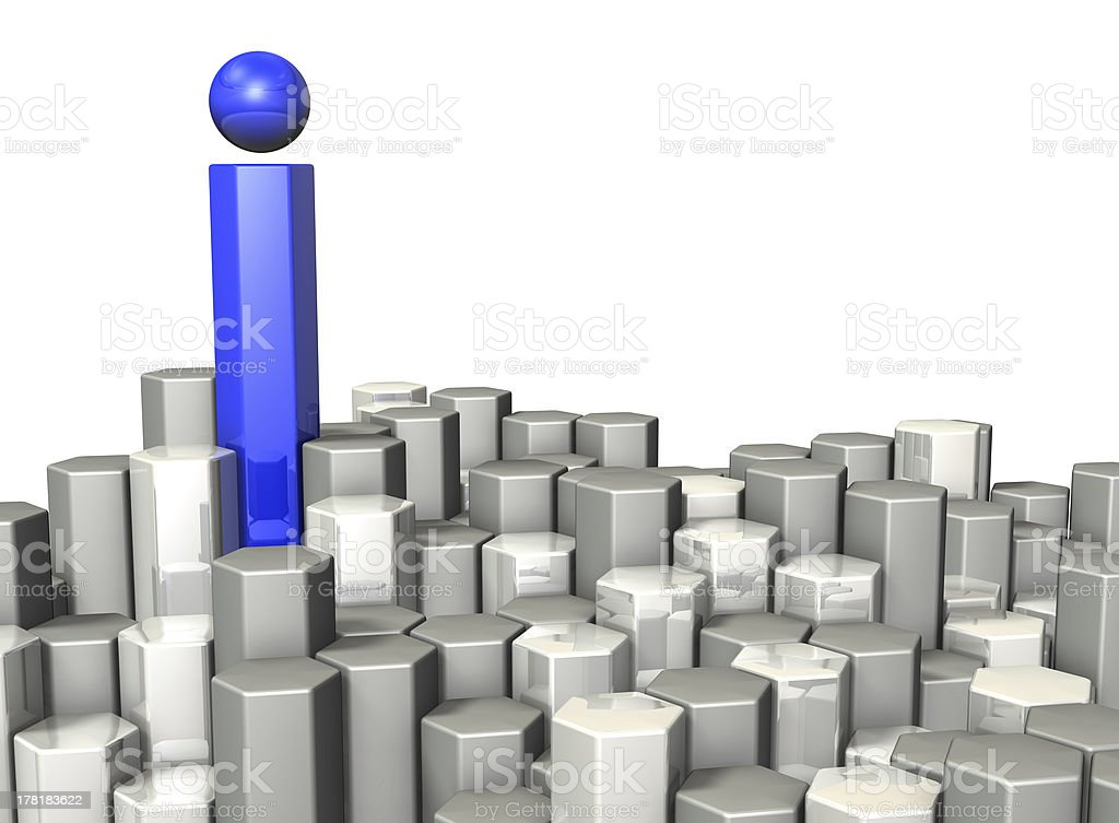 Hexagonal tower represents a source of information. royalty-free stock photo