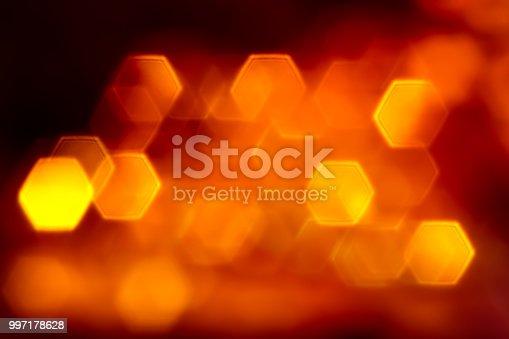 istock Hexagone orange lights 997178628