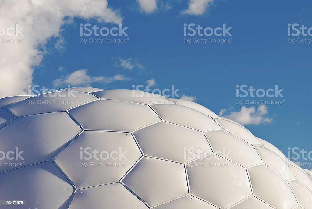 Hexagons and pentagons structure stock photo