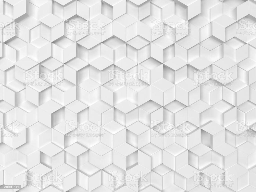 Zeshoeken gemaakt van rhombuses - Royalty-free Abstract Stockfoto