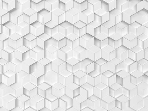 Zeshoeken Gemaakt Van Rhombuses Stockfoto en meer beelden van Abstract