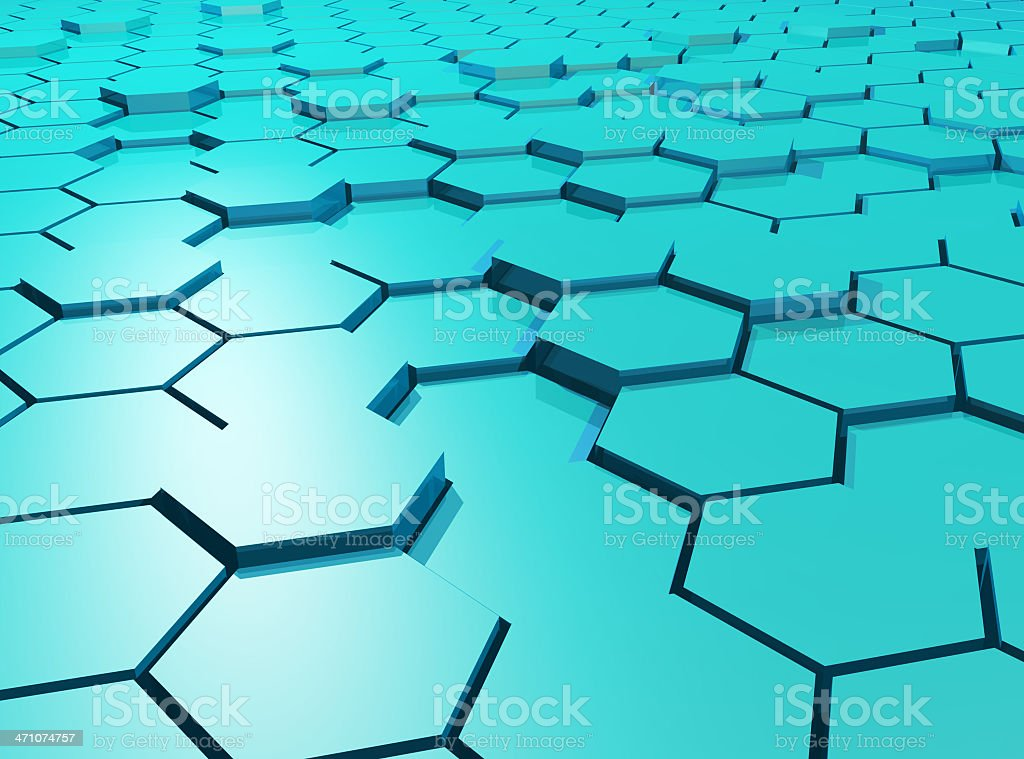 Hexagons royalty-free stock photo