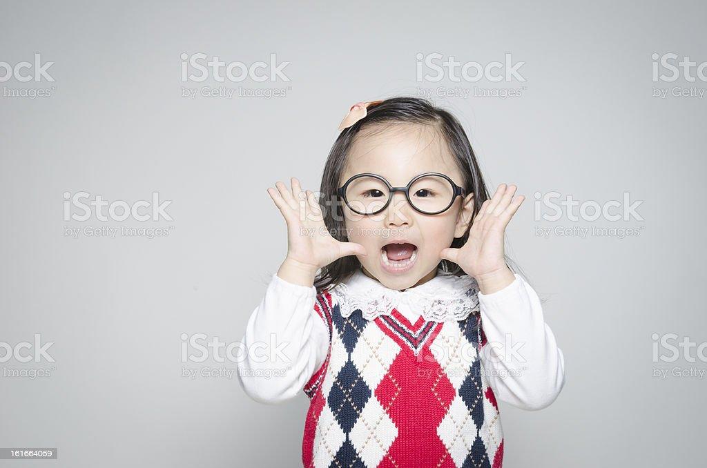 Hey, hear me speak? royalty-free stock photo