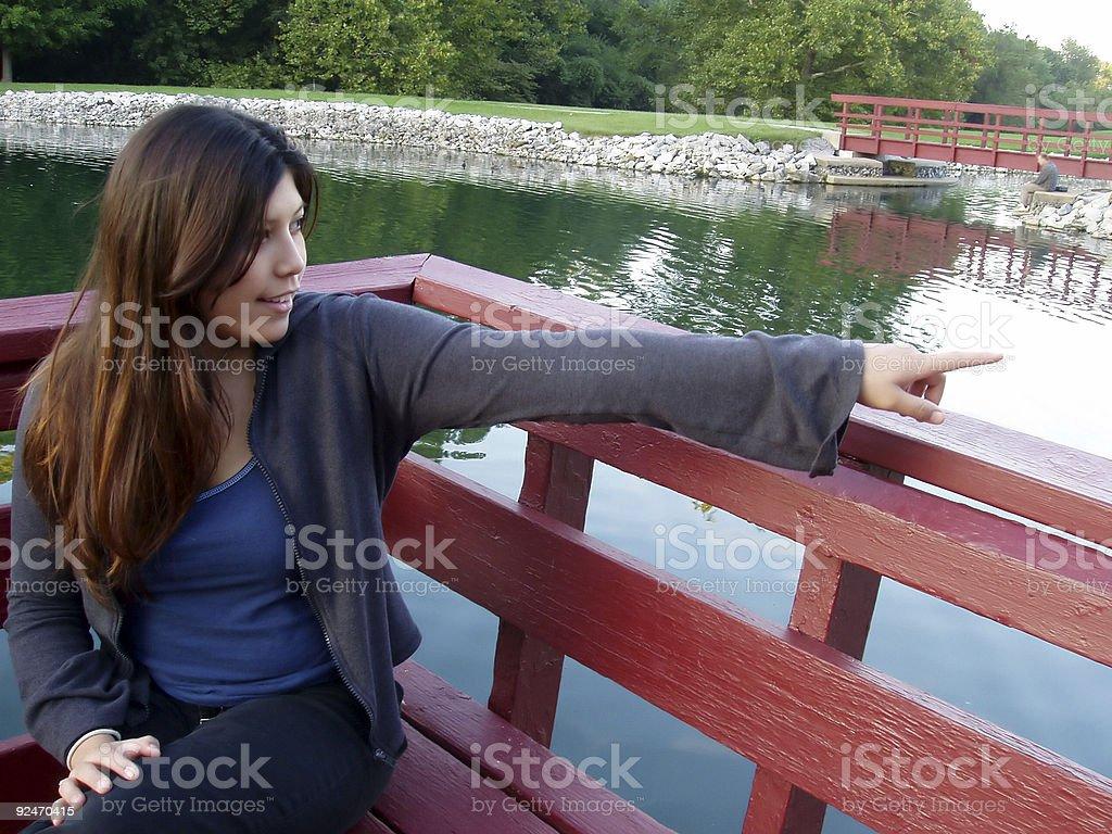 Hey, Look! stock photo