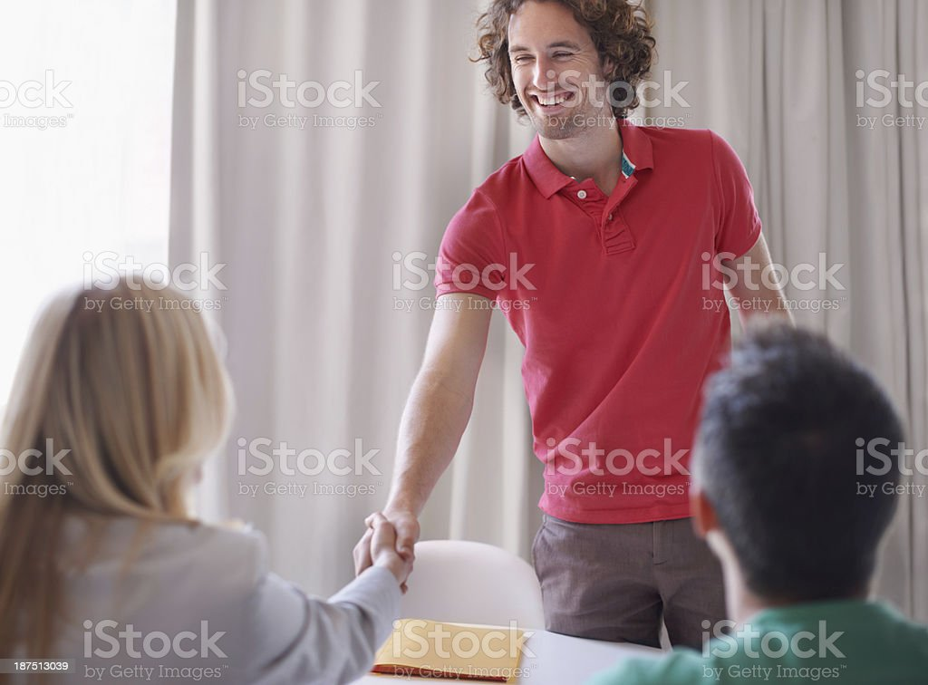 Hey, thanks for coming stock photo