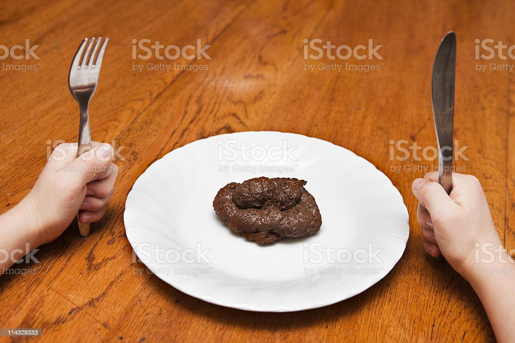 Hey, that tastes just like..... stock photo
