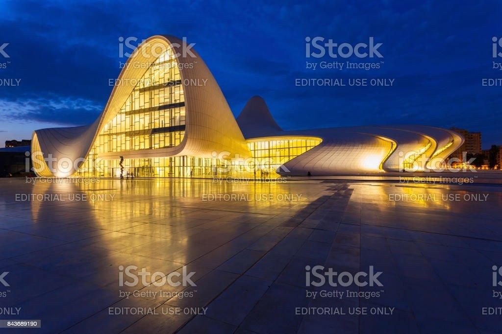 Heydar Aliyev Center, Baku stock photo