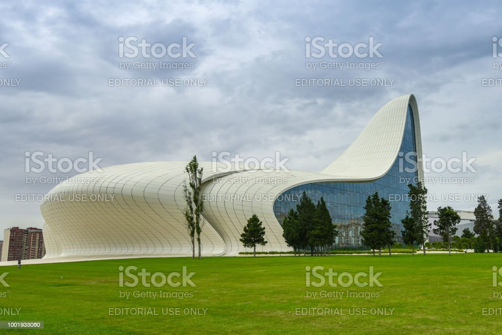 Heydar Aliyev Center Gebaude Mit Auditorium Galerie Hall Und Museum