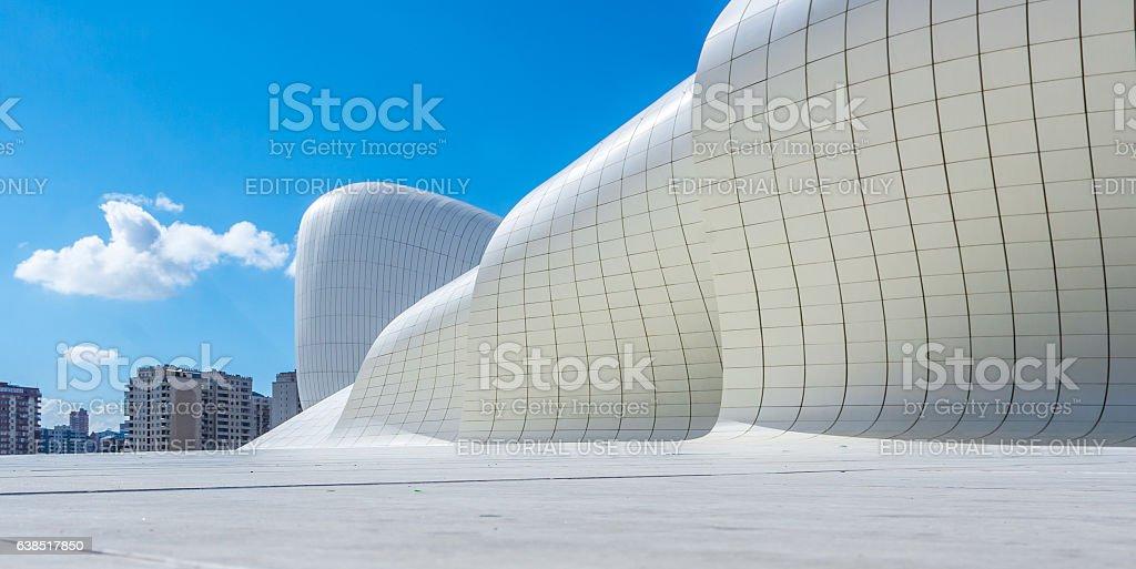 Heydar Aliyev Center Museum in Baku, Azerbaijan stock photo