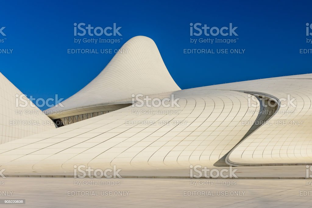 Heydar Aliyev Center Museum in Baku stock photo