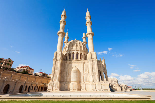Heydar Mosque in Baku stock photo