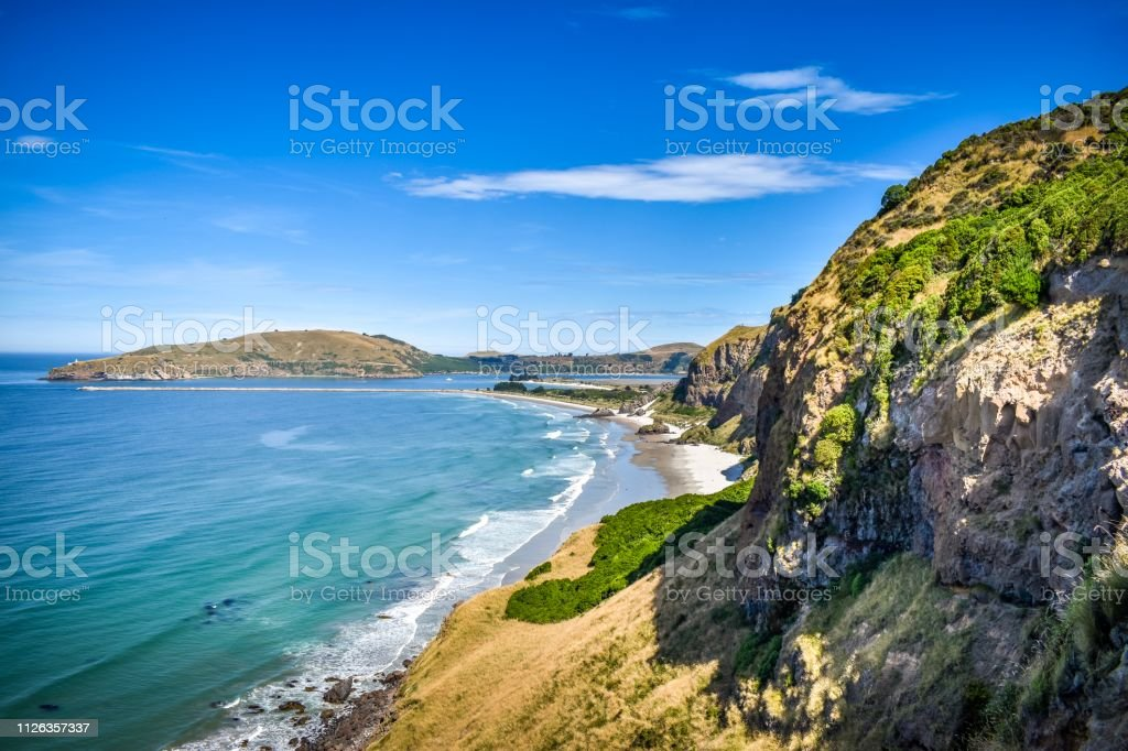 Heyward Point views, Waitati, Otago New Zealand stock photo