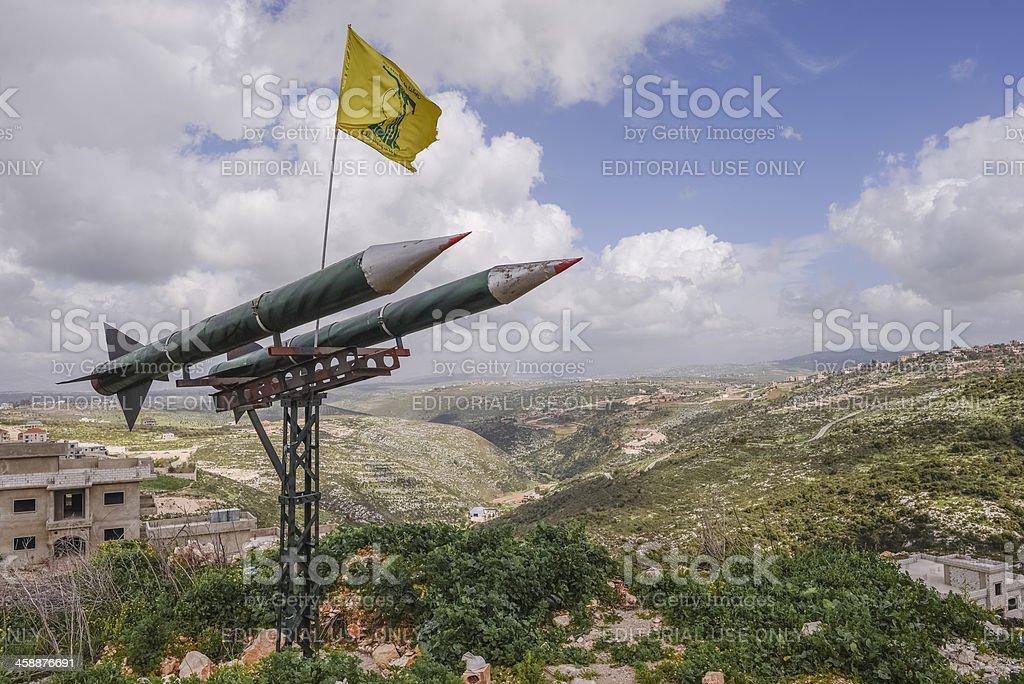 Hezbollah rockets stock photo