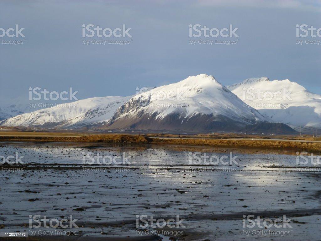 Höfn, Iceland stock photo