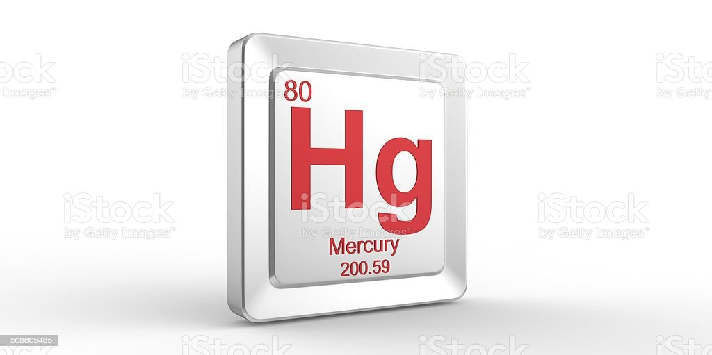 Hg Symbol 80 Material For Mercury Chemical Element Stock Photo
