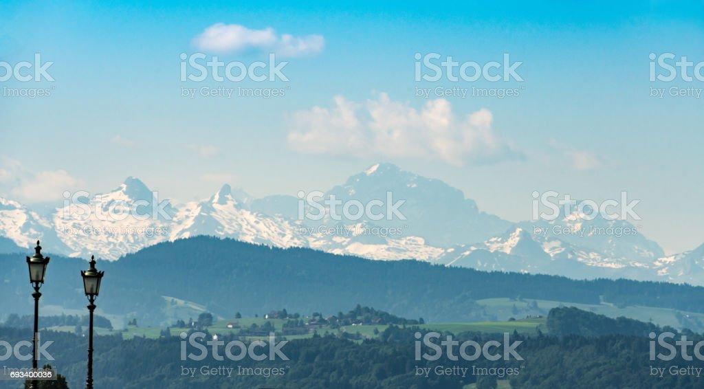 Höhronen mountain in the Swiss Prealps stock photo
