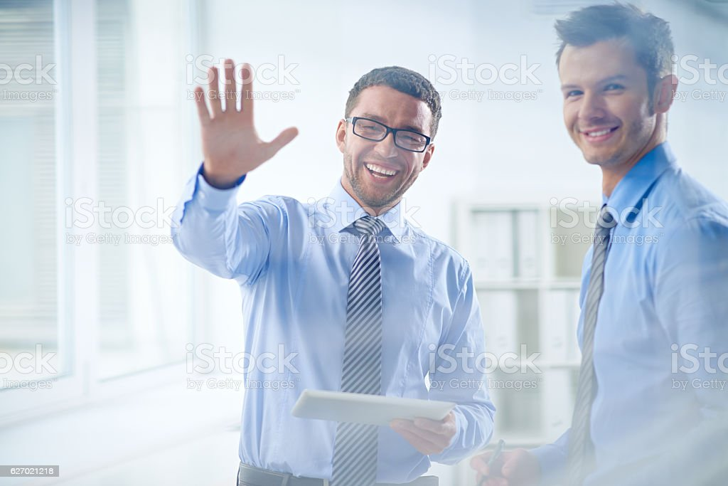 Hi everybody! stock photo