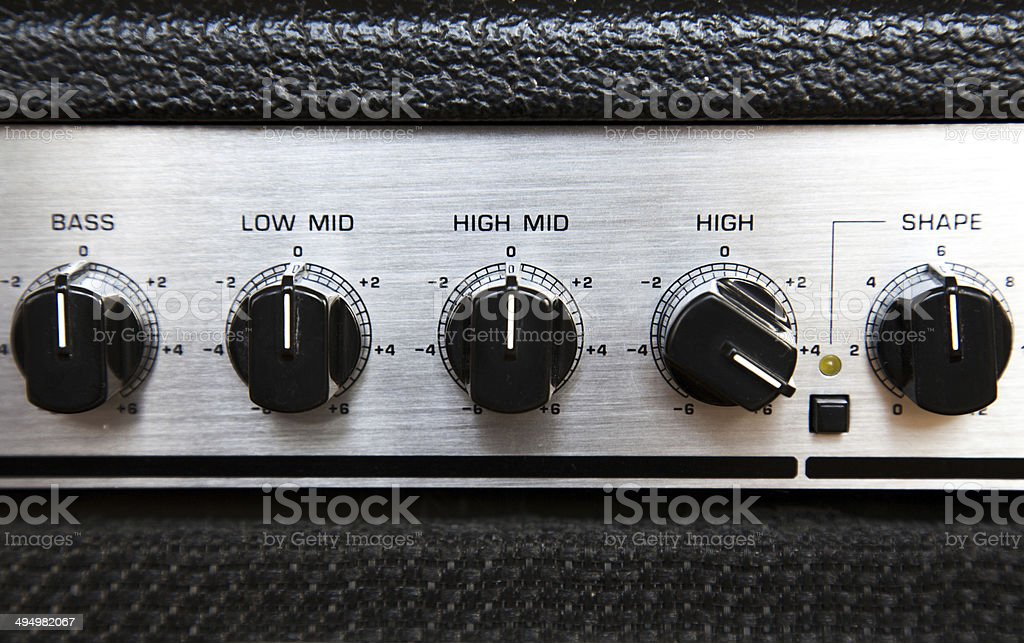 hi fi ampflier buttons abstract 2 stock photo