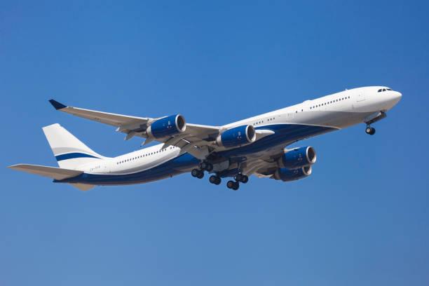 Hi Fly Malta Airbus A340-500 stock photo