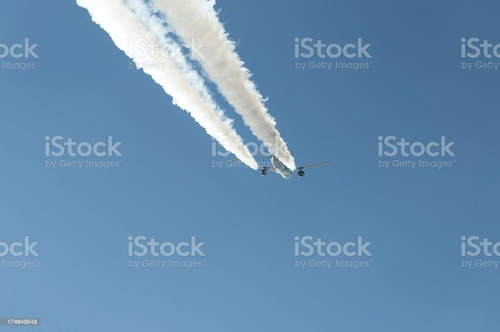 Hi Flying Jet royalty-free stock photo