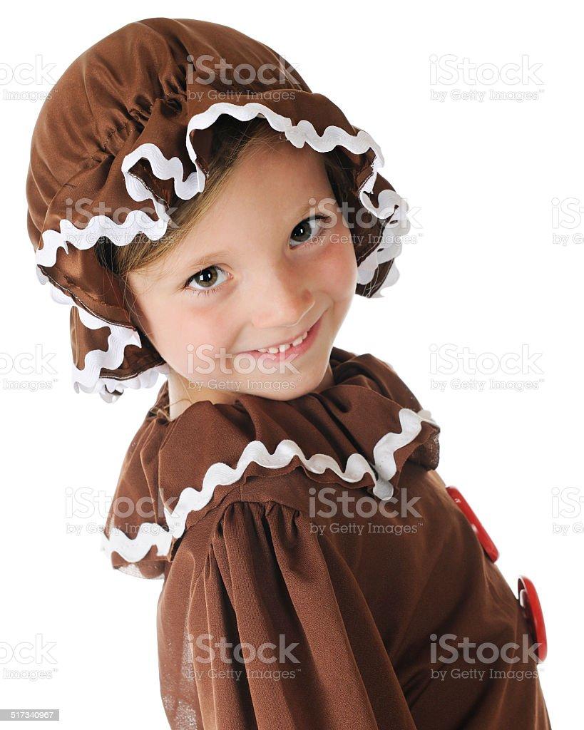 Hi!  I'm a Gingerbread Girl stock photo