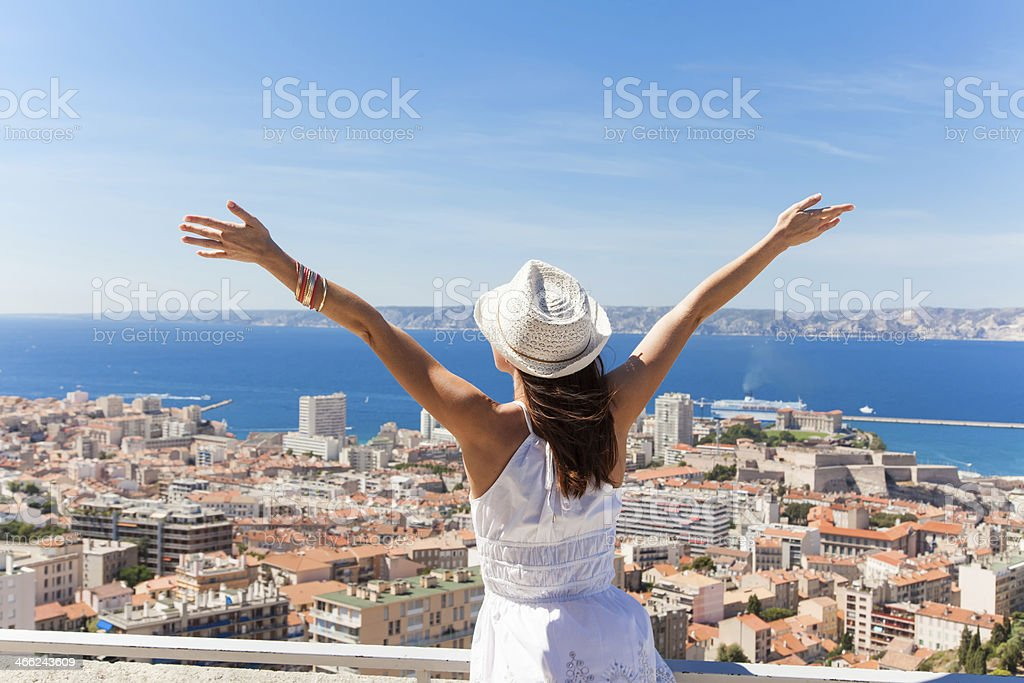 Salut Marseille! stock photo