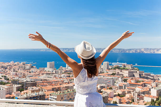 Salut Marseille! stock photo