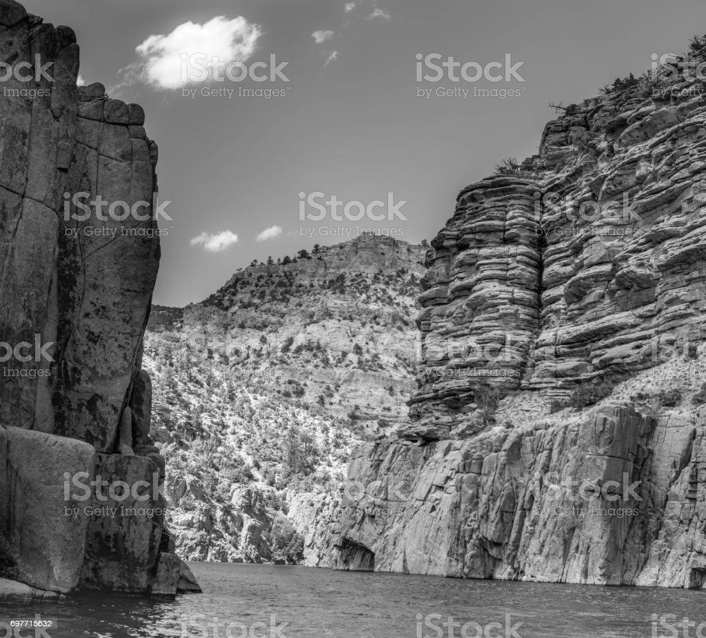 Hi Resolution Black and White Mountains stock photo