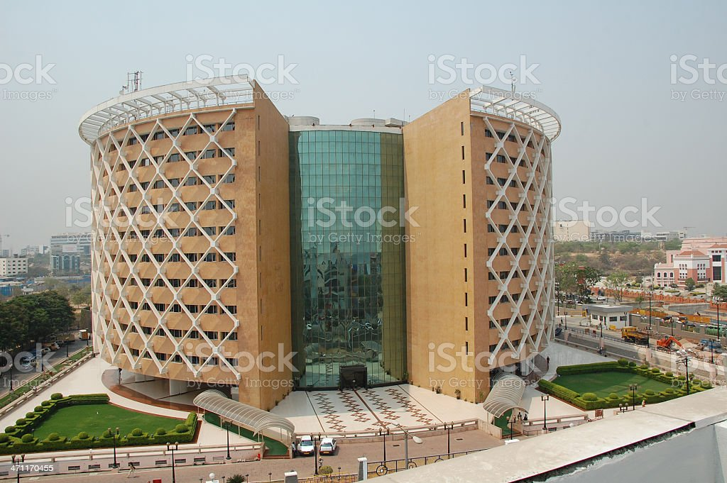 Hi tec City building stock photo