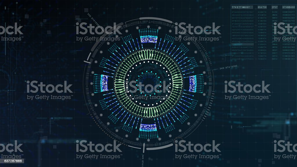Hi Tech User Interface Head Up Display stock photo