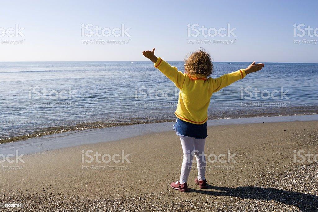Hi the sea! royalty free stockfoto