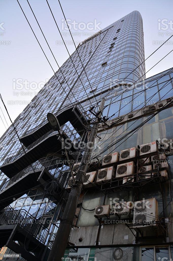 Hi Time International tower, Shanghai stock photo