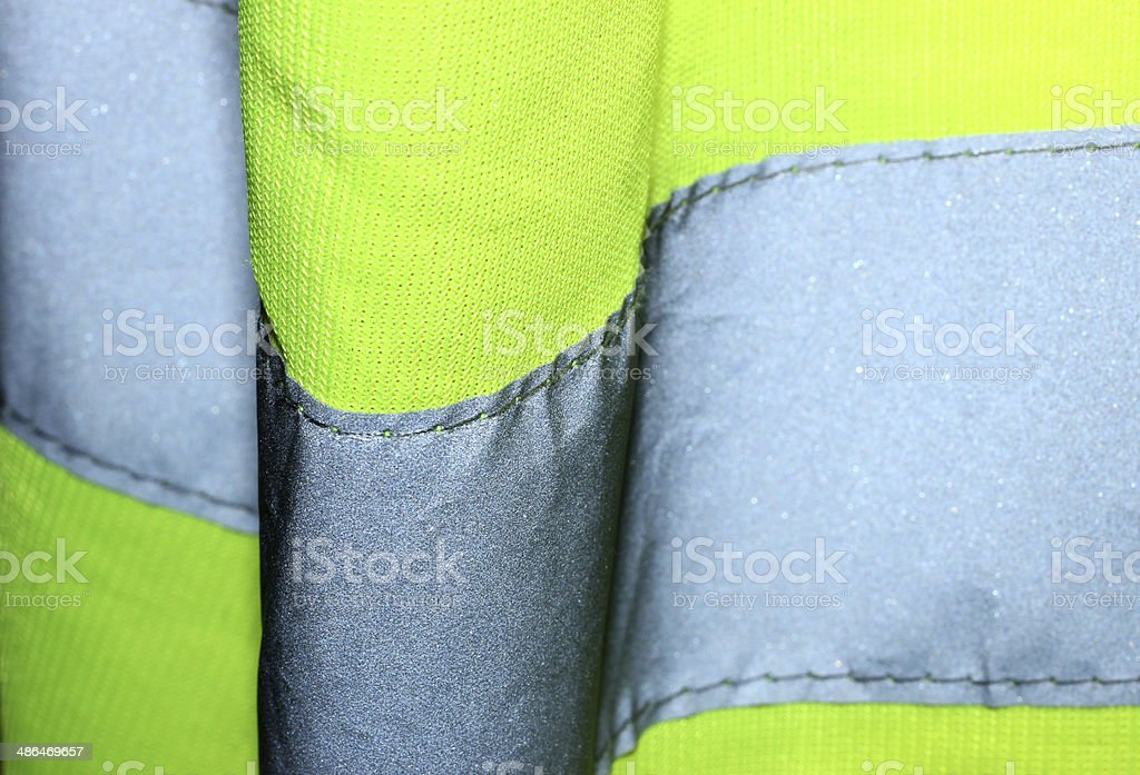 Hi Visibility Jacket Close Up stock photo