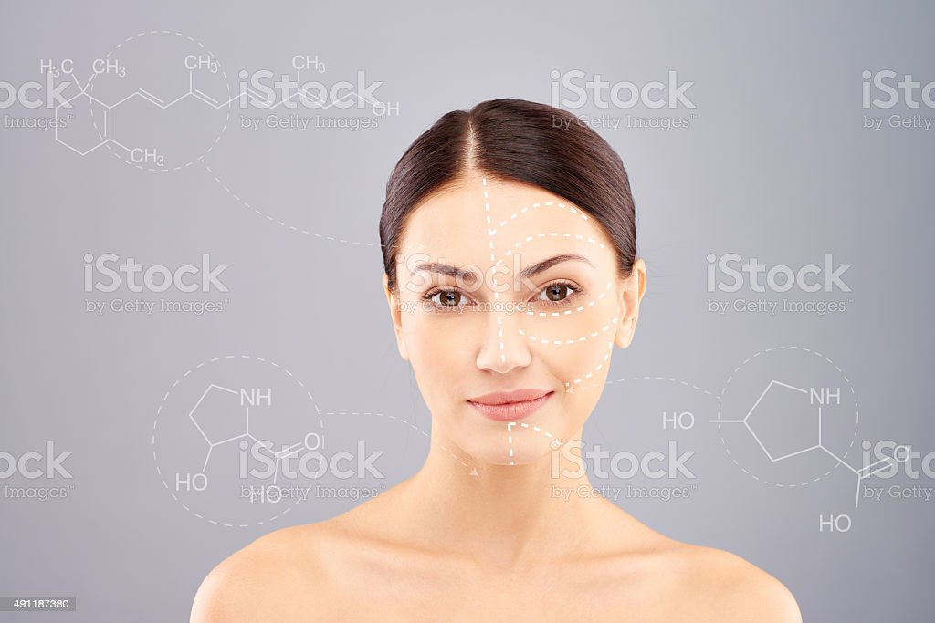 Hialuronan injections for face stock photo