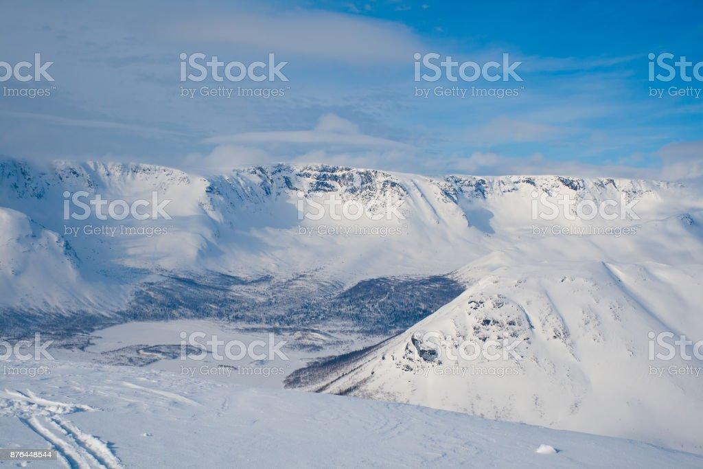 Hibiny in winter stock photo