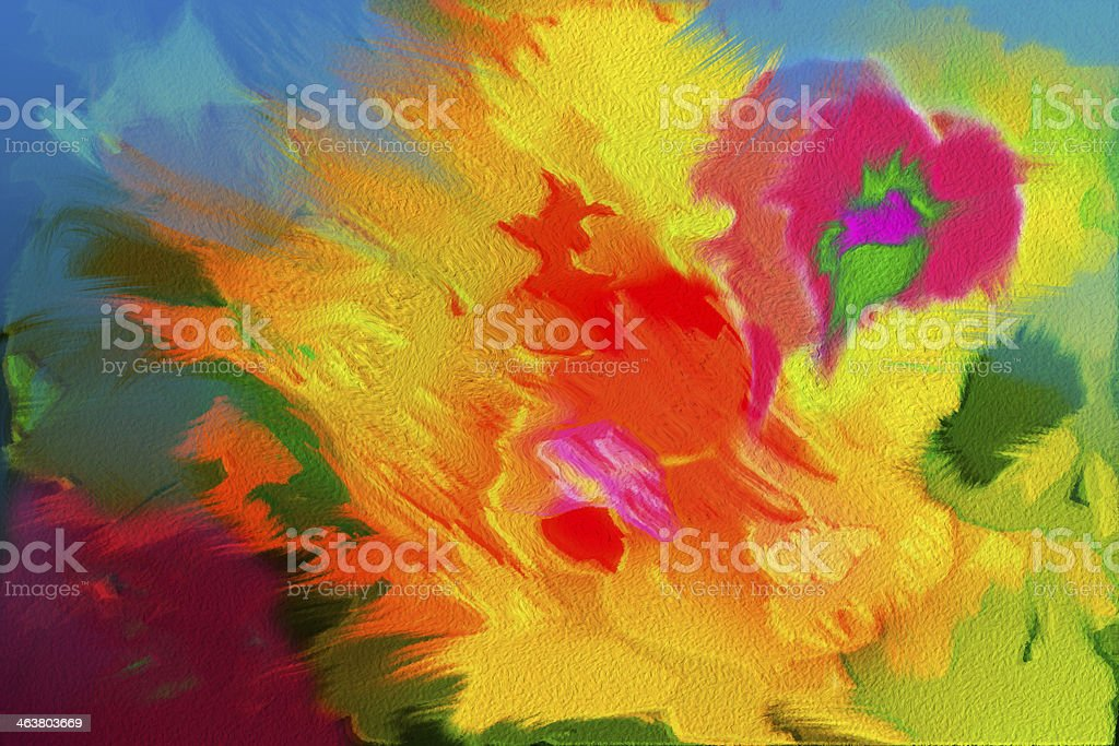 Hibiscus and Heart absract background royalty-free stock photo