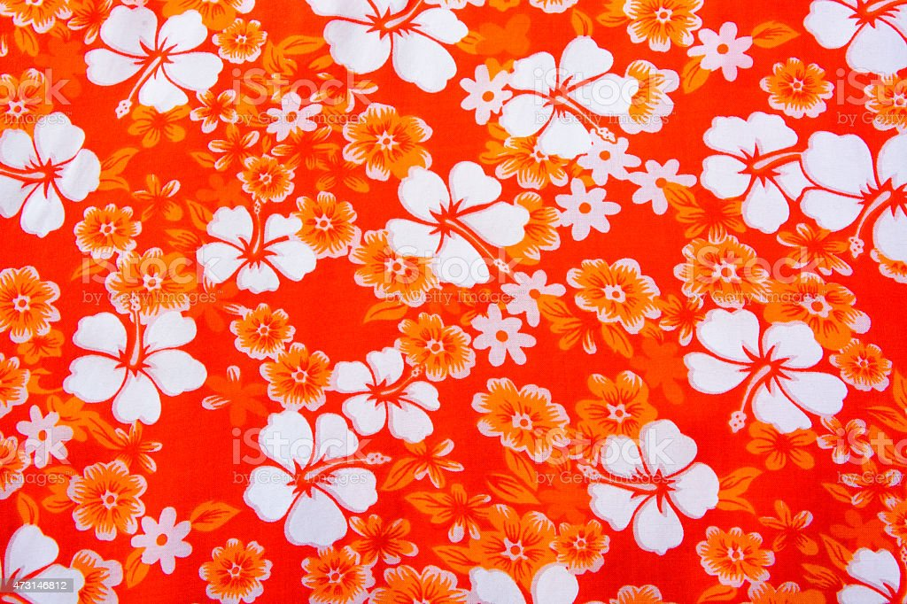 Hibiscus Flower Background Hawaiian Patterns Royalty Free Stock Photo