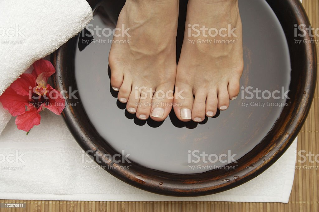 hibiscus foot pamper royalty-free stock photo