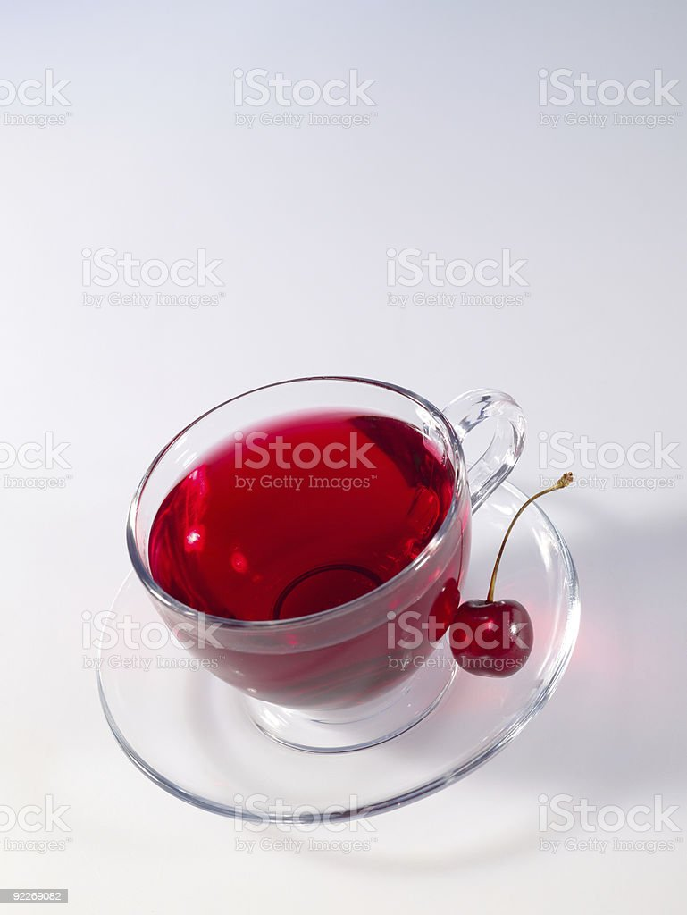 hibiscus herbal tea in glass cup royalty-free stock photo