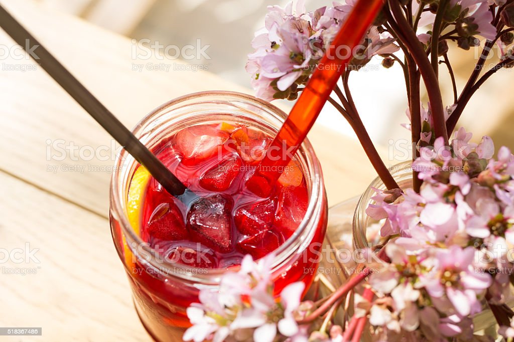 Hibiscus Iced Tea stock photo