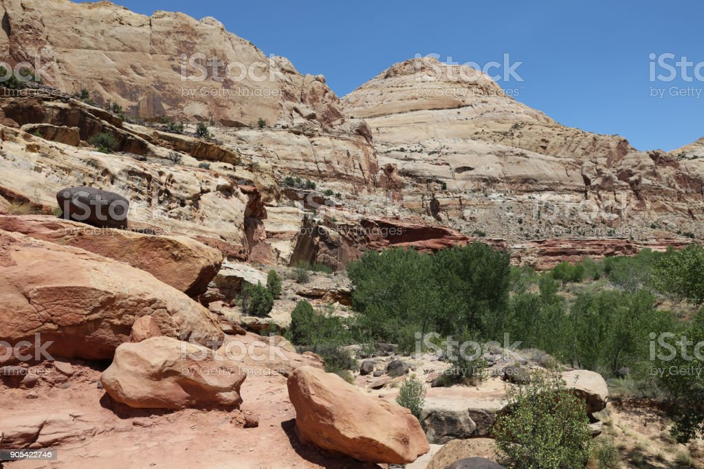 Hickman Trail in Capitol Reef National Park. Utah. USA stock photo