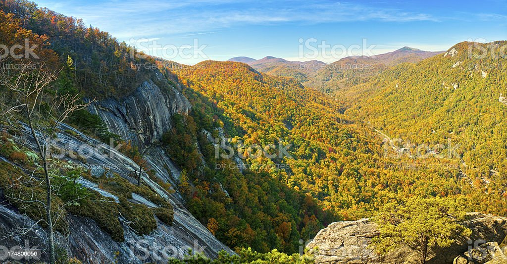 Hickory Nut Gorge, Chimney Rock Park, North Carolina, USA royalty-free stock photo