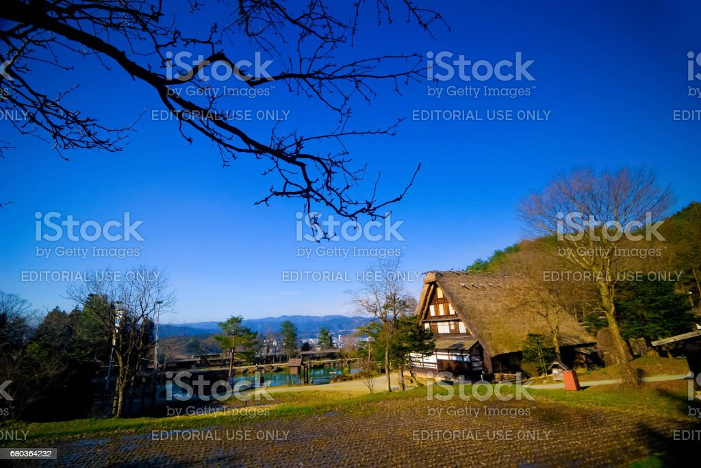 Hida Folk Village (Hida No Sato) royalty-free stock photo